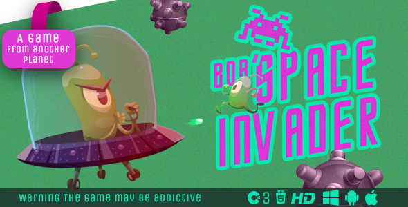 Bob Space-Invader - HTML5 Game (Construct3) Download