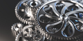 Gears and cogs mechanism. Industrial machinery - PhotoDune Item for Sale