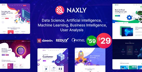 Naxly – Data Science & Analytics WordPress Theme Preview