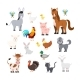 Farm Animals Set Isolated on White Background - GraphicRiver Item for Sale