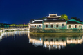 traditional architecture in jiujiang at night - PhotoDune Item for Sale