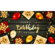 Birthday Balloons and Gifts on Black Wooden Background - GraphicRiver Item for Sale