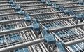 Light blue shopping carts - PhotoDune Item for Sale