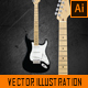 Photorealistic Vector Stratocaster Guitar - GraphicRiver Item for Sale
