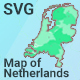 Map of Netherlands - CodeCanyon Item for Sale
