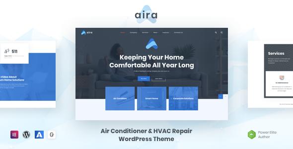 Aira – Conditioning & HVAC Repair WordPress Preview
