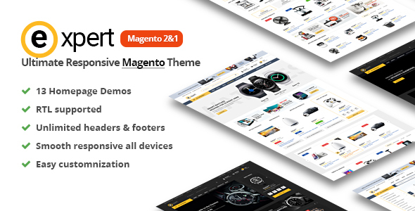 Expert Premium Responsive Magento 2 | RTL supported
