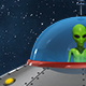 Alien Sitting In A Flying Ufo Saucer Spaceship - VideoHive Item for Sale