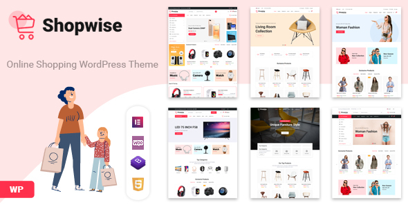 Shopwise – Minimal WooCommerce WordPress Theme Preview
