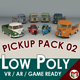 Low Poly Pickup Pack 02 - 3DOcean Item for Sale