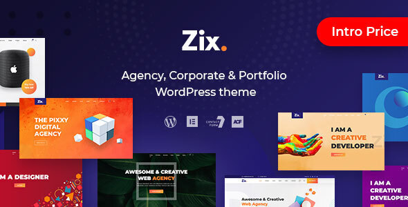 Zix - Digital Agency & MultiPurpose WordPress Theme