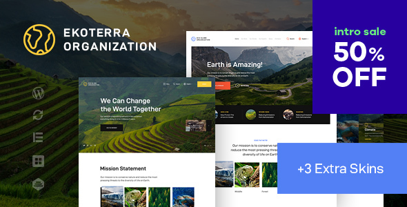 Photo of Ekoterra – NonProfit & Ecology WordPress Theme Full Download