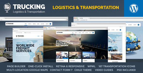 Trucking - Transportation & Logistics WordPress Download
