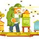 Old Beekeeper in Bee-Garden - GraphicRiver Item for Sale