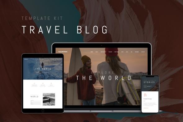 Vagabonds – Travel Blog Template Kit, Gobase64