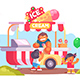 Mobile Food Truck and Van with Ice Cream - GraphicRiver Item for Sale