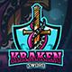 Kraken Sword Esport Logo Template - GraphicRiver Item for Sale