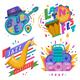 Music Festivals Emblem Invitation - GraphicRiver Item for Sale