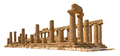 Temple of Juno in Agrigento on white background - PhotoDune Item for Sale