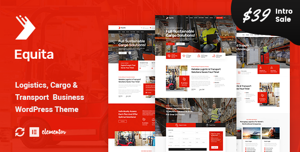 Photo of Equita – Logistics Cargo WordPress Theme Full Download