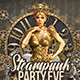 Steampunk Party Club Flyer - GraphicRiver Item for Sale