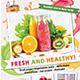 Juice Menu Flyer + Business Card - GraphicRiver Item for Sale