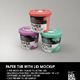 Glossy or Matte Paper Tub with Lid Packaging Mockup - GraphicRiver Item for Sale