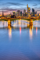 The river Main with the famous skyline of Frankfurt - PhotoDune Item for Sale