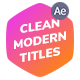 Clean Modern Titles - VideoHive Item for Sale