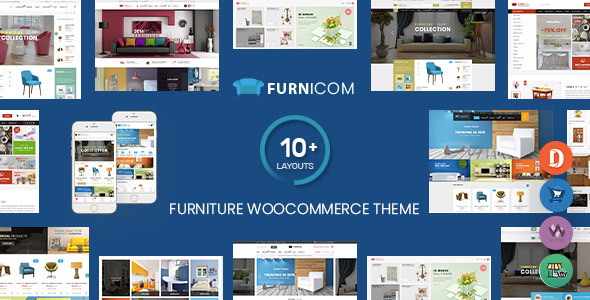 Furnicom - Furniture Store & Interior Design WordPress WooCommerce Theme (10+ Homepages Ready)