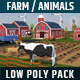 Low Poly Farm House and Animals Pack - 3DOcean Item for Sale