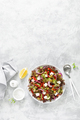 Greek salad with fresh vegetables, lettuce and feta cheese - PhotoDune Item for Sale