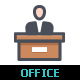 Office & Stationery Line with Color - GraphicRiver Item for Sale
