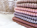 multicolored wool knitted hats in stack - PhotoDune Item for Sale