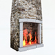 Old Stone Fireplace - 3DOcean Item for Sale