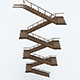 Old Wooden Staircase 02 - 3DOcean Item for Sale