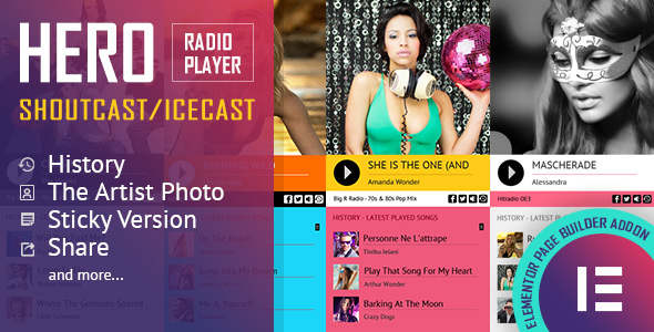 Photo of Elementor Widget Eklenti Tarihi kahraman – Shoutcast ve Icecast Radyo Çalar – Full Download