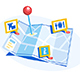 Map with Geolocation Pin - GraphicRiver Item for Sale