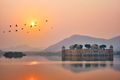 Tranquil morning at Jal Mahal Water Palace at sunrise in Jaipur. Rajasthan, India - PhotoDune Item for Sale
