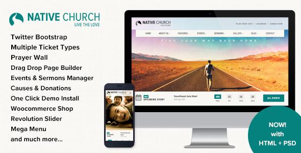Native Church – Multi Purpose WordPress Theme