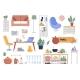 Set of Illustrations of Interior Details - GraphicRiver Item for Sale