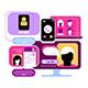 5 Options of an Online Chatting Design - GraphicRiver Item for Sale