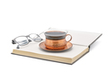 Coffee with Book and Reading Glasses - PhotoDune Item for Sale