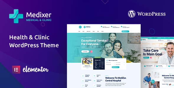 Medixer – Medical Health & Clinic WordPress Theme Preview