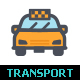 Transport & Auto Line with Color Icon Set - GraphicRiver Item for Sale