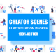 Flat Scene Situation People Creator Kit - GraphicRiver Item for Sale