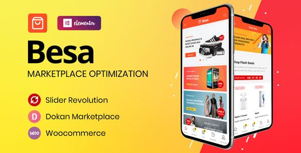 Besa - Elementor Marketplace WooCommerce Theme