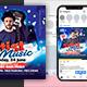 Big Artist Flyer & Social Media Post Templates - GraphicRiver Item for Sale
