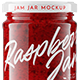 Raspberry Jam Jar #6 Mockup - GraphicRiver Item for Sale