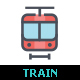 Train & Railway Line with Color Icon Set - GraphicRiver Item for Sale